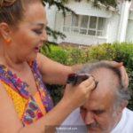 Safiye Soyman, Faik Öztürk'ü tıraş etti