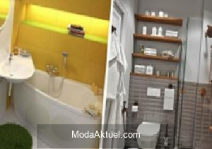 Küçük banyoları kullanışlı hale getirmenin yolları